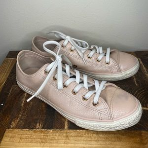 Converse All Stars Pink and Rose Gold Size 8